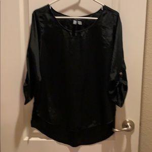 Black shiny blouse